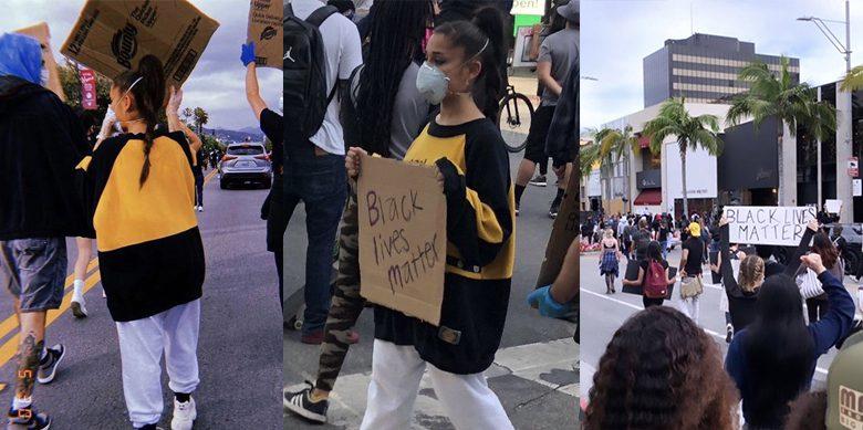 Ariana Grande Black Lives Matter Beverly Hills